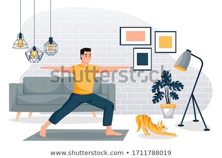 stretching yoga man Stock photo © Paha_L