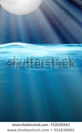 Ocean scene with fullmoon above the water Stock photo © bluering