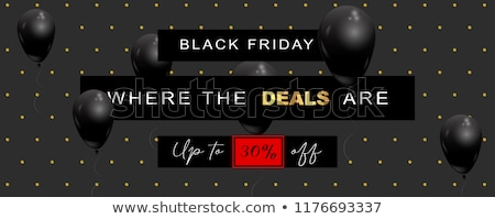 Elegante black friday venda cartaz modelo preto Foto stock © SArts
