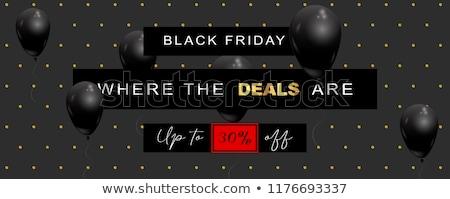 élégante black friday vente affiche modèle noir Photo stock © SArts