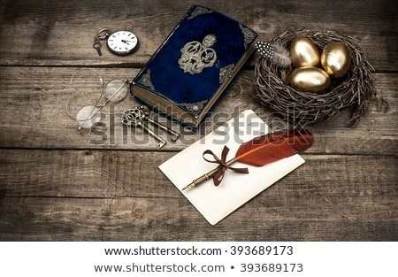 golden egg and book Stock photo © devon