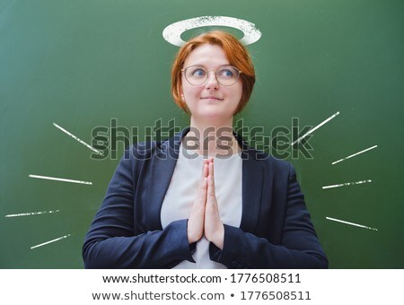 business angel   hand drawn on green chalkboard stock photo © tashatuvango