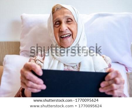 арабских · старые · работу · служба · улыбка · женщины - Сток-фото © toyotoyo