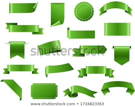 Green Ribbon Set In Isolated White Background Stock photo © cammep