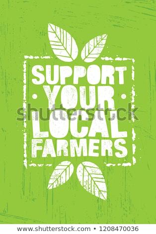自然食品 ポスター 人 農村 農業の ストックフォト © robuart