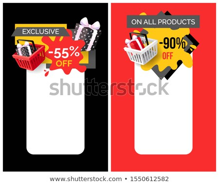 Exclusivo produtos para cima por cento preço Foto stock © robuart