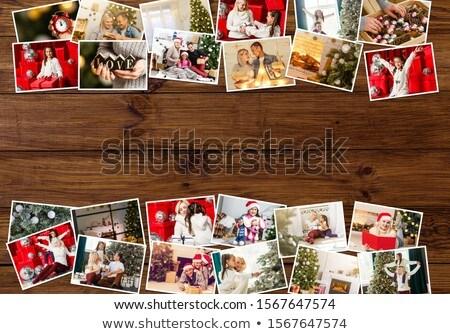 vidám · karácsony · üdvözlőlap · mikulás · vektor · hely - stock fotó © robuart
