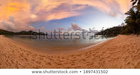Baie Lazare Beach At Sunset, Mahe Island, Seychelles Stock photo © AndreyPopov