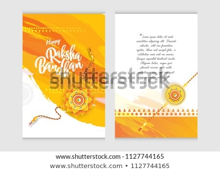 beautiful raksha bandhan greeting with decorative design Stock photo © SArts