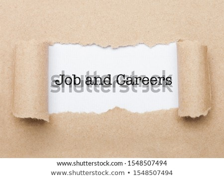 Job nad Careers text appearing behind brown paper stock photo © DenisMArt