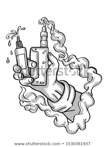 Hand Holding Vape Electronic Cigarette Kit Tattoo Stock photo © patrimonio