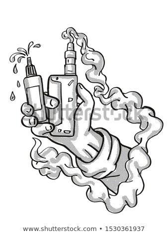 Mano elettronica sigaretta tattoo Foto d'archivio © patrimonio