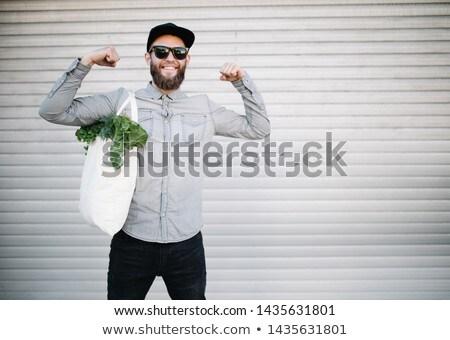 ökológia férfi üzlet öltöny fa fej Stock fotó © orla
