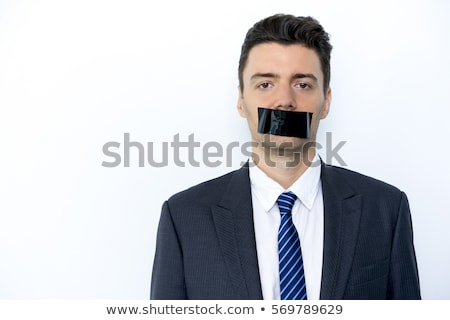 The young male employee with tape on the mouth  Stock photo © Elnur