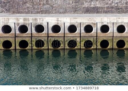 Beton bloklar liman madeira ada Portekiz Stok fotoğraf © boggy