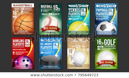 Basketball Sport Promotional Flyer Poster Vector Stock photo © pikepicture