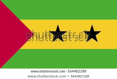 Vector set of the national flag of Sao Tome and Principe Stock photo © butenkow