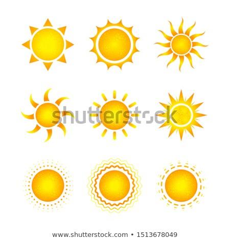 Establecer nueve diferente brillante sol iconos Foto stock © evgeny89