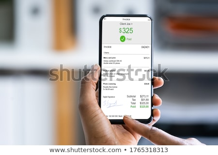 African Woman E Invoice Statement Stock photo © AndreyPopov