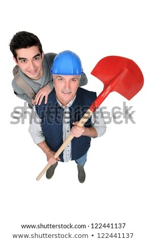 Construction worker stood with new starter Stock photo © photography33