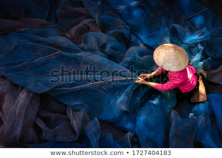 魚網 クローズアップ ボート 戻る 空 水 ストックフォト © Koufax73