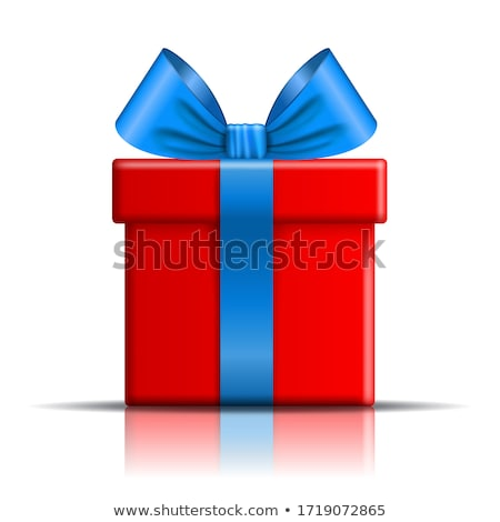 Blue giftbox isolated on white Stock photo © shutswis
