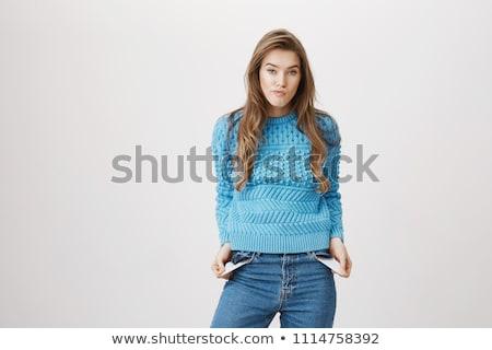 печально молодые женщины пусто портрет Сток-фото © wavebreak_media