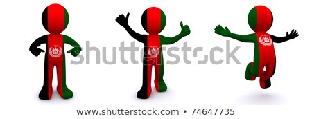 3d character textured with flag of Afghanistan Stock photo © Kirill_M
