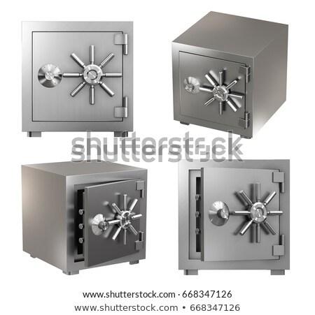 fém · széf · izolált · fehér · biztonság · bank - stock fotó © shutswis