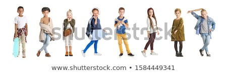Little funny boy isolated on white background  stock photo © Nejron