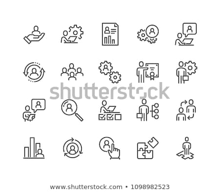 human resources line icons stock photo © anatolym