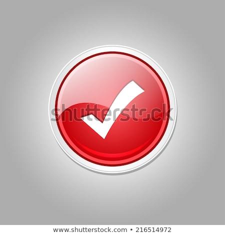 Direito chave vetor vermelho ícone web Foto stock © rizwanali3d