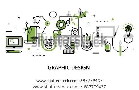 Szerszámok zöld vektor ikon terv digitális Stock fotó © rizwanali3d