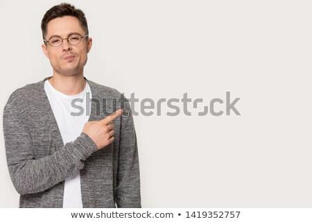 man standing, looking with contempt Stock photo © alexandrenunes