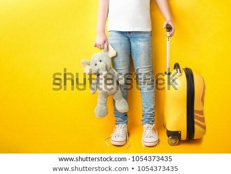 Giallo valigia attrattivo Foto d'archivio © vlad_star