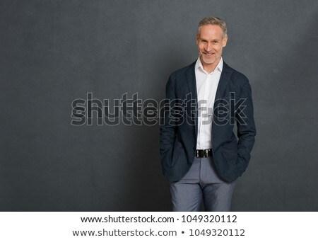 üzletember · ujjak · ajkak · üzlet · férfi · férfiak - stock fotó © konradbak
