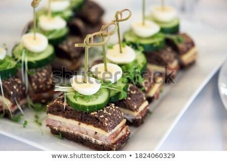 Ham canape Stock photo © Digifoodstock