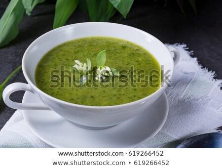 Wild Garlic Soup Stok fotoğraf © Dar1930