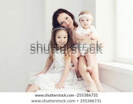 Portrait mère deux femme fille rire Photo stock © IS2