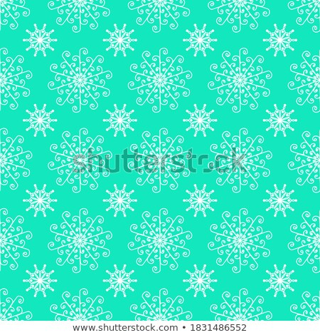 luxury snowflake created from ornamental patterns stock photo © robuart
