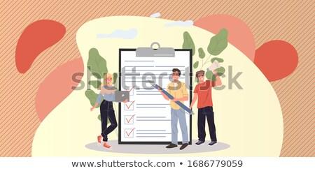 questionario · lente · di · ingrandimento · business · poveri · relazione · ingrandire - foto d'archivio © devon
