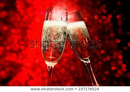 arkadaşlar · şampanya · gözlük · Noel · parti · kutlama - stok fotoğraf © dashapetrenko