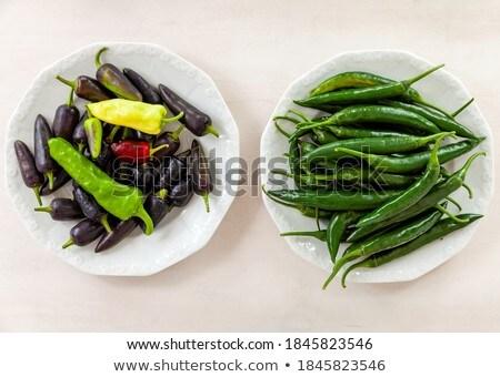 Bowl of bright chili pepper Stock photo © dash