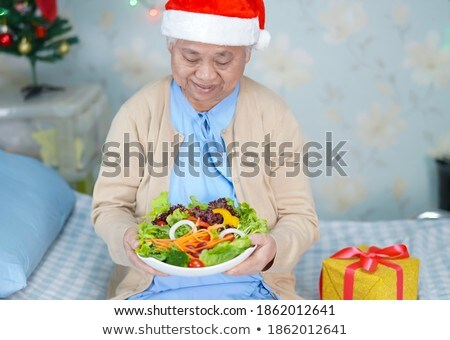 Stock photo: patient young women_food festival