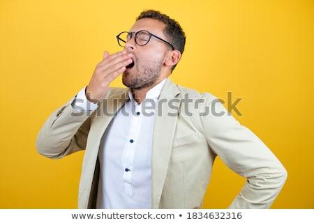 退屈 · ビジネスマン · 作業 · 遅い · オフィス - ストックフォト © minervastock