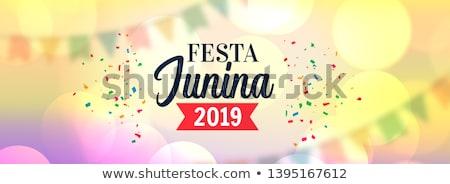 garlands decoration festa junina 2019 banner Stock photo © SArts