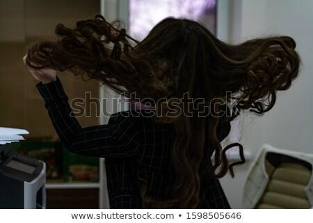 Permanent haren ingesteld meisje voertuigen boten Stockfoto © toyotoyo