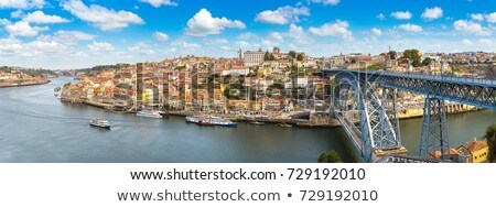 Aerial View of Porto Oporto City And Douro River Portugal Stock photo © diego_cervo