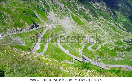 Panorama of Tranfagarasan road Stock photo © grafvision