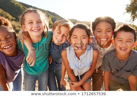 счастливым · детей · смеясь · группа - Сток-фото © lichtmeister